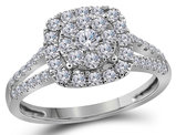 2/3 Carat (ctw J-K, I1-I2) Diamond Engagement Ring in 14K White Gold