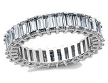 3.40 Carat (ctw) (3.70 Ct. Look) Synthetic Moissanite Eternity Wedding Band Ring in 14K White Gold