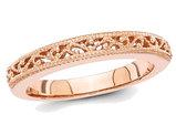 Ladies 14K Rose Pink Gold Wedding Band (3.0mm)
