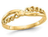 Ladies 14K Yellow Gold Heart Promise Ring
