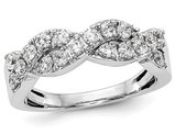 7/10 Carat (ctw H-I, I2-I3) Diamond Infinity Ring band in 14K White Gold