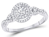 3/8 Carat (ctw I-J, I2-I3) Damond Engagement Ring in 10K White Gold