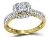 1/2 Carat (ctw I-J, I2-I3) Princess Cut Diamond Engagement Ring in 14K Yellow Gold