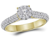 1.30 Carat (ctw G-H, I1-I2) Diamond Engagement Ring in 14K Yellow Gold