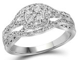 1/3 Carat (ctw H-I, I1-I2) Diamond Engagement Ring in 10K White Gold
