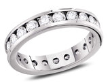 1.00 Carat (ctw H-I, I1-I2) Diamond Eternity Wedding Anniversary Band in 14K White Gold