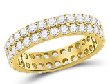 2.00 Carat (ctw G-H, I1) Diamond Eternity Wedding Anniversary Band in 14K Yellow Gold