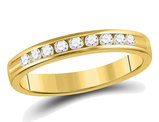 1/4 Carat (ctw H-I, I1-I2) Channel Set Diamond Wedding Band in 14K Yellow Gold