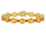 29.35 Carats (ctw) Madeira Citrine Bracelet in Yellow Plated Sterling Silver 7.25 inches