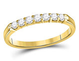 14K Yellow Gold 1/4 Carat (ctw I-J, I2-I3) Diamond Wedding Band in 14K Yellow Gold