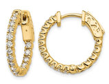 9/10 Carat (ctw VS2-SI1, E-F) Lab Grown Diamond Hoop Earrings in 14K Yellow Gold