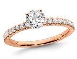 1/2 Carat (ctw Color SI1-SI2, G-H-I) Lab Grown Diamond Engagement Ring in 14K Rose Pink Gold