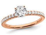 3/4 Carat (ctw Color SI1-SI2, G-H-I) Lab Grown Diamond Engagement Ring in 14K Rose Pink Gold
