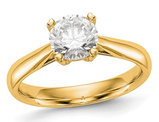 1.00 Carat (ctw G-H-I, SI1-SI2) Lab Grown Diamond Solitaire Engagement Ring in 14K Yellow Gold