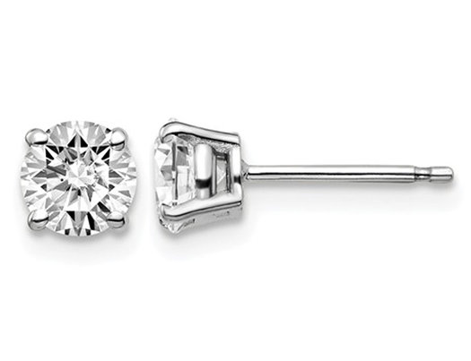 1.00 Carat (ctw VS2-SI1, D-E-F) Lab-Grown Diamond Solitaire Stud Earrings in 14K White Gold