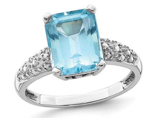 3.70 Carat (ctw) Sky Blue Topaz Ring in Sterling Silver