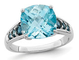 5.50 Carat (ctw) London and Sky Blue Topaz Ring in Sterling Silver