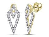 3/10 Carat (ctw H-I, I1-I2) Diamond Triangle Earrings in 14K Yellow Gold