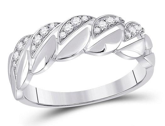 1/7 Carat (ctw) Diamond Band Ring in 14K White Gold