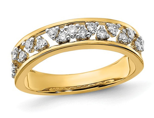 1/3 Carat (ctw I-J, I2-I3) Ladies Diamond Wedding Band in 14K Yellow Gold