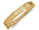 14K Yellow Gold Hinged Bangle Bracelet (10.00 mm)