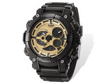 Men's US Navy Wrist Armor C40 Black and Gold Watch