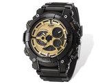 Men's US Navy Wrist Armor C40 Black and Gold Watch