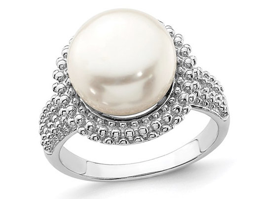 Freshwater Cultured 11-12mm Pearl Ring in Sterling Silver