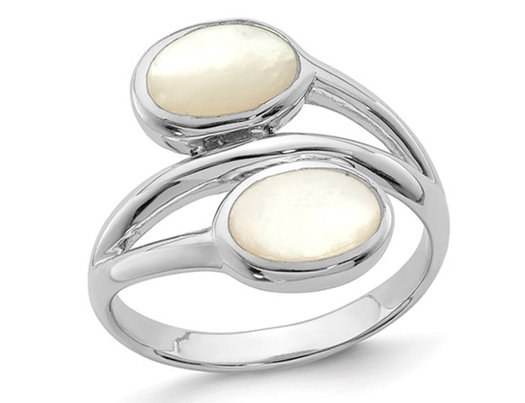 White Mother of Pearl Ring in Sterling Silver