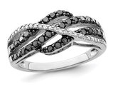 1/2 Carat (ctw) Black & White Diamond Ring in Sterling Silver