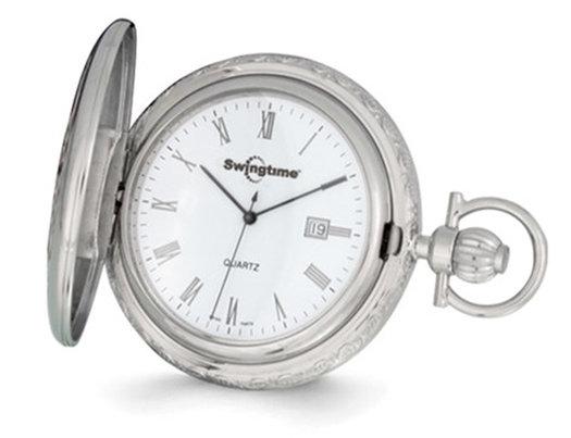 Swingtime Rose and Chrome Finish Pocket Watch 48mm