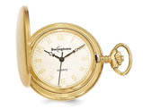 Swingtime Gold Finish Brass Quartz 42mm Pocket Watch