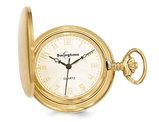 Swingtime Gold Finish Brass Quartz 42mm Pocket Watch