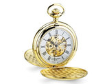 Charles Hubert 14k Gold Finish Pocket Watch (48mm)