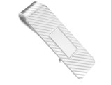 Men's Money Clip in Rhodium Plated Sterling Silver