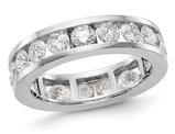 3.00 Carat (ctw H-I, I1-I2) Diamond Eternity Wedding Band in 14K White Gold