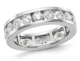 3.00 Carat (ctw H-I, I1-I2) Diamond Eternity Wedding Band in 14K White Gold