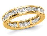 2.00 Carat (ctw H-I, I1-I2) Diamond Eternity Wedding Band Ring in 14K Yellow Gold