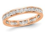 1.00 Carat (ctw H-I, I1-I2) Ladies Diamond Eternity Wedding Band in 14K Rose Pink Gold