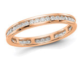 1/2 Carat (ctw H-I, I1-I2) Diamond Eternity Wedding Band in 14K Rose Pink  Gold