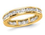 1.50 Carat (ctw Color H-I, I1-I2) Ladies Diamond Eternity Wedding Band Ring in 14K Yellow Gold