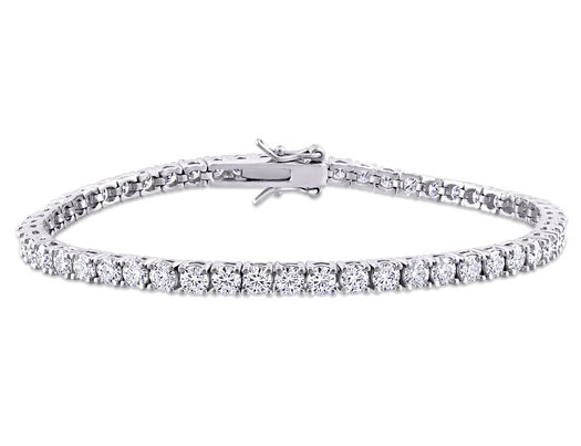 5.60 Carat (ctw) Lab-Created Moissanite Tennis Bracelet in Sterling Silver