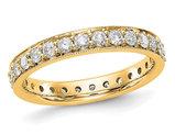 1.00 Carat (ctw Color H-I, I1-I2) Diamond Eternity Wedding Band in 14K Yellow Gold