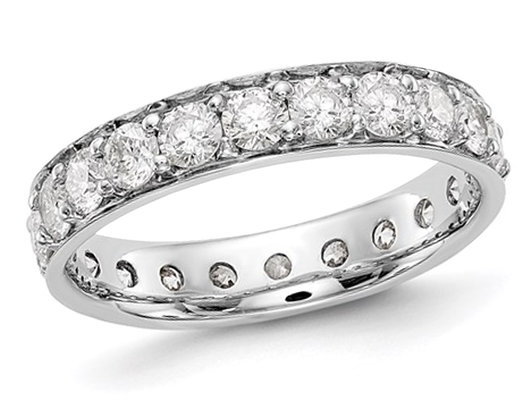 2.00 Carat (ctw H-I, I1-I2) Diamond Eternity Wedding Band in 14K White Gold