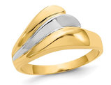 Ladies 14K Yellow and White Gold Polished Wave Ring