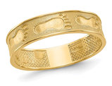 Footprints in the Sand Band Ring in 14K Yellow Gold
