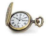 Charles Hubert Antique Yellow Finish 2-Horses Pocket Watch