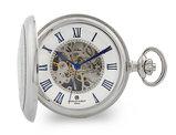 Charles Hubert Chrome Open Window Case Pocket Watch (50mm)