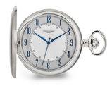 Charles Hubert Satin Stainless Hunter Case Pocket Watch (50mm)