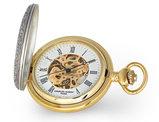 Charles Hubert 2-Tone Ribbon & Shield Pocket Watch (47mm)